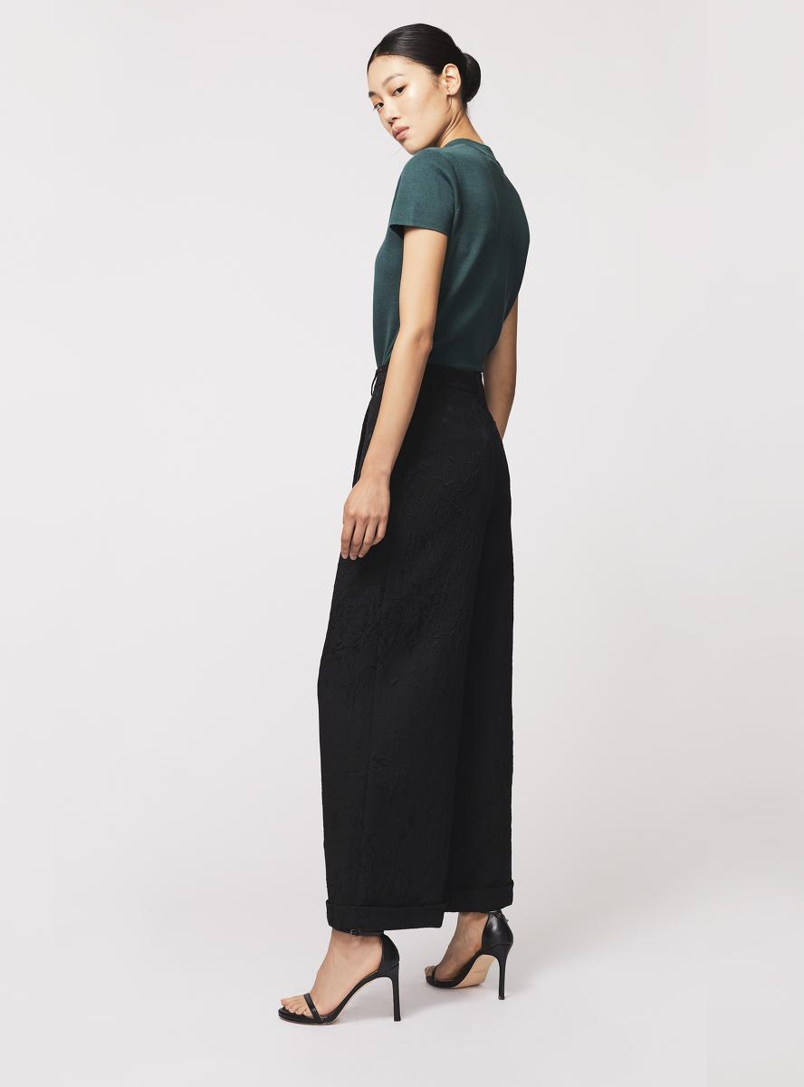 Jewel Button Silk-cotton Knit Qipao Top